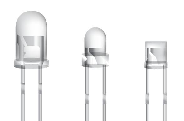 [Lamp type LED] 5mm Lamp LED - Horizontal oval/ Round/ Flat type (violet, blue, cyan, green, white,