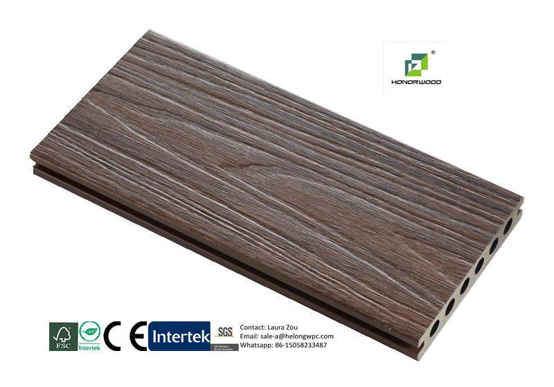 2016 honorwood hot-sale co-extrusion WPC decking