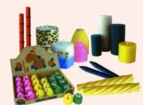 Various Craft Candles with beewax Craft Candles