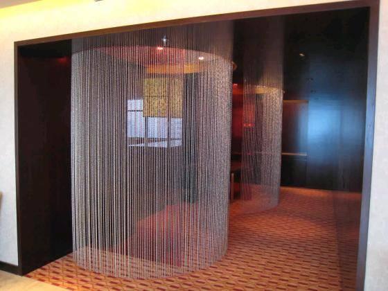 ball chain shimmer screen