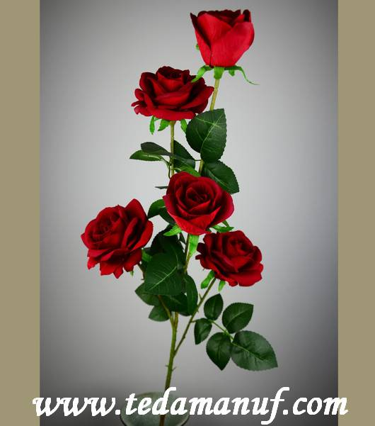 artificial silk rose branch for home decor