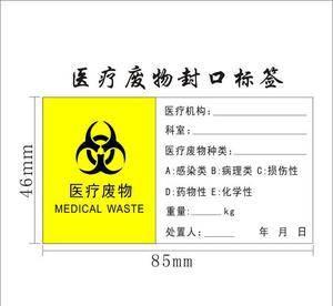 Caution Paper Label Sticker