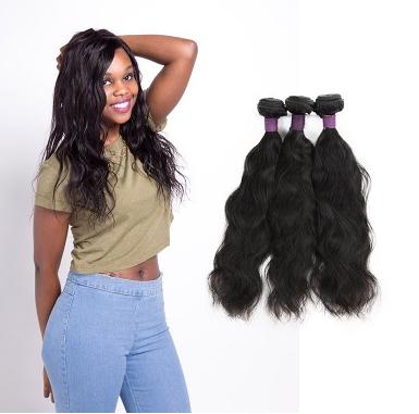 [9A]3 Bundles Brazilian Natural Wave Hair Weave