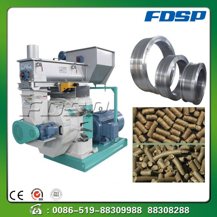High capacity grass pellet machine