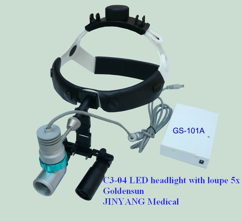 rechargeable Surgical Dental led headlight loupe magnifier 5x