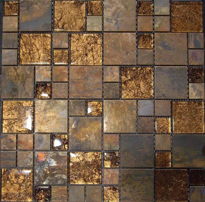 Antique copper mosaic/ Metal mosaic