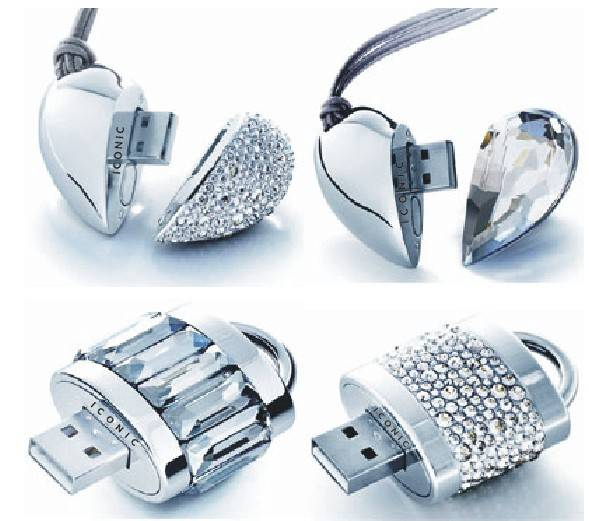 Diamond Heart USB Flash Disk for Promotional Gift,Crystal USB Flash Gift