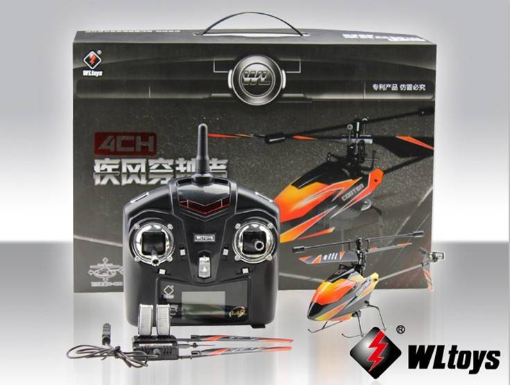 Newest WL Toys V911 2.4G 4CH Single Blade Gyro RC MINI Outdoor Helicopter with LCD