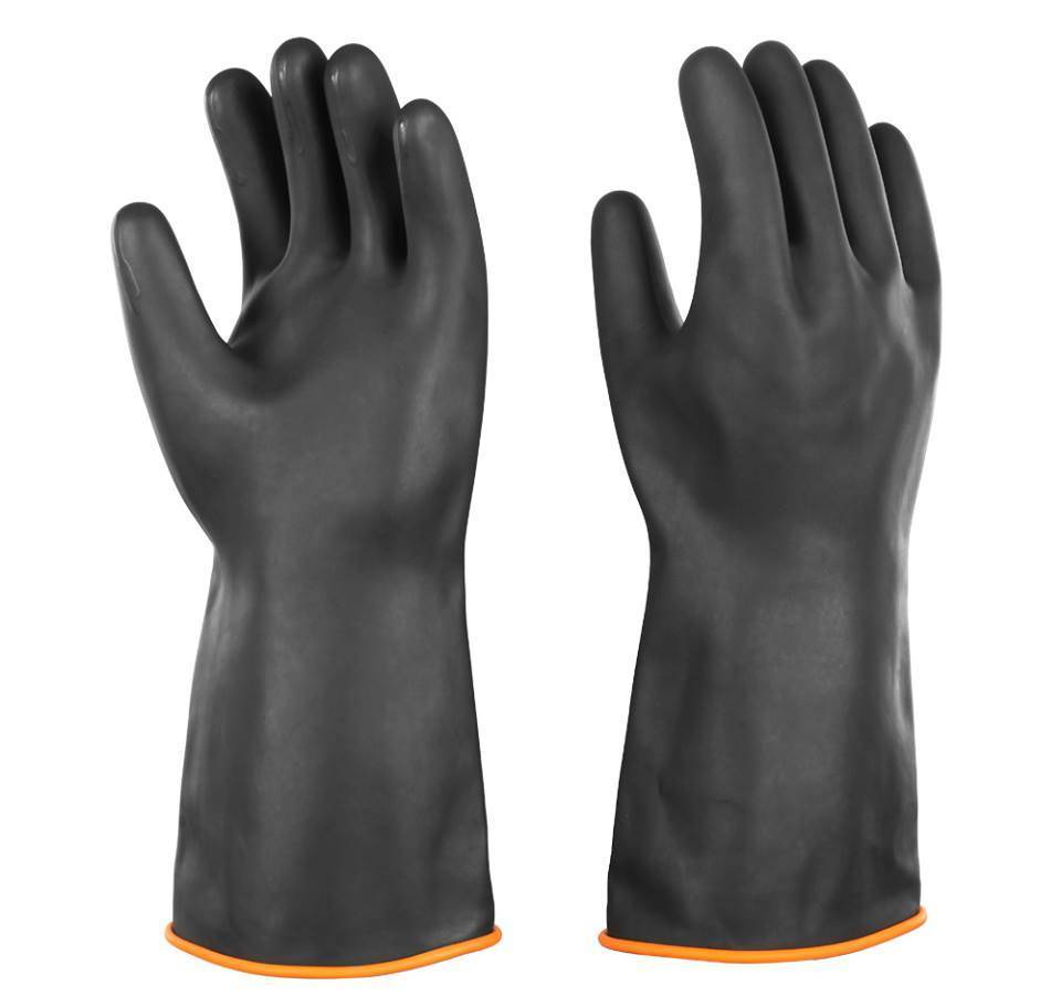 Chemical protect safety rubber gloves