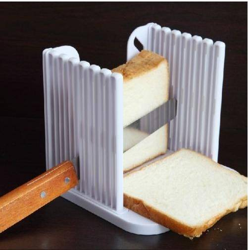 Nice Kitchen tool Pro Kitchen Handware Bread Loaf Toast Slicer Cutter Maker Slicing Cutting Tool Coo
