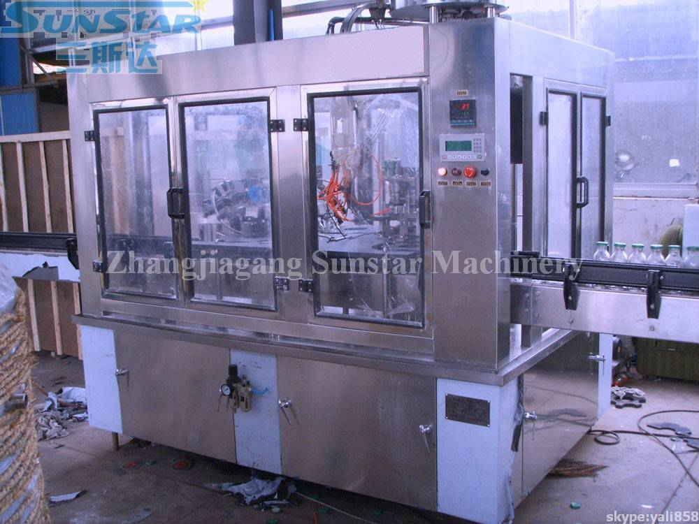 Glass Bottle Juice Beverage Hot Filling Machine Monoblock