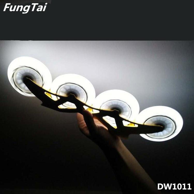 100mm 110mm LED Light PU Wheels Roller Inline Skate Shoes Wheels (DW1011)