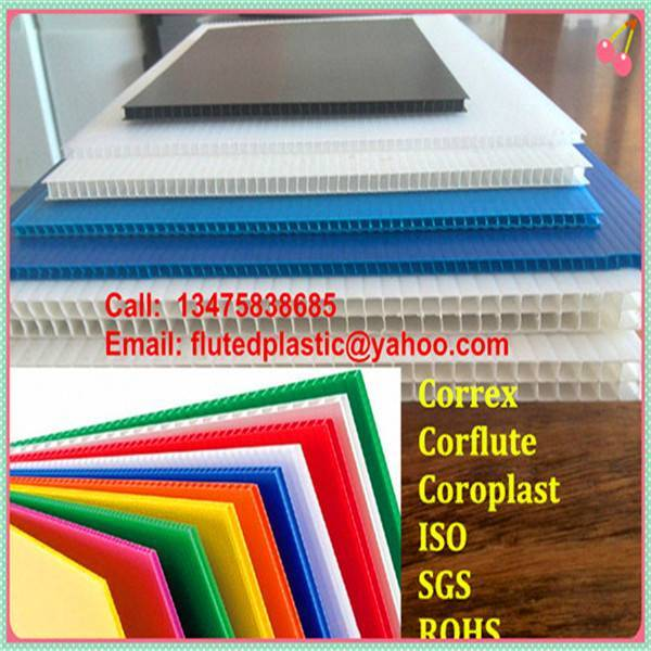 Cheap PP corrugated plastic correx sheet for floor and construction protection