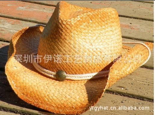 YRCB11022 straw hat, cowboy straw hat