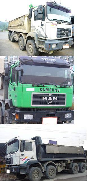 Used dump truck Man volvo mercedes and scania