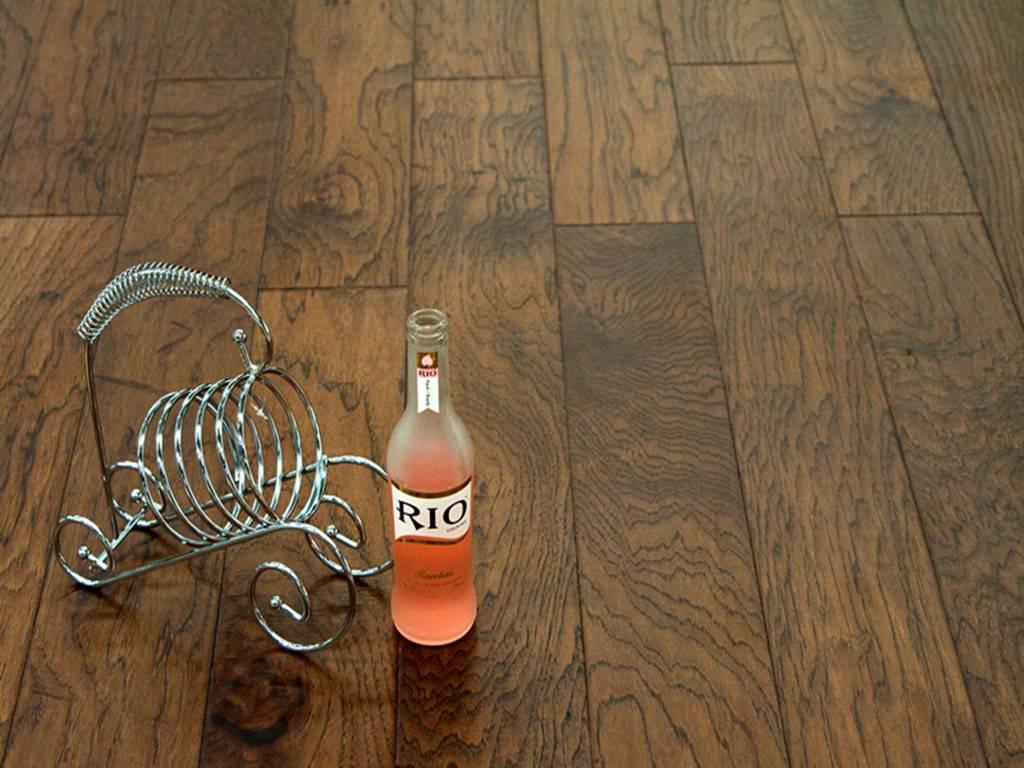 Hickory-Brown Hardwood Flooring