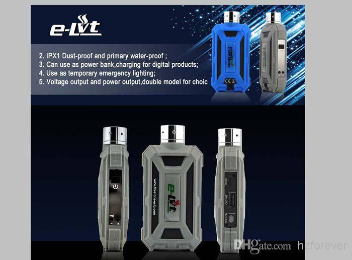 Wholesale - New Arrival E-LVT mechanical mod 18650 elvt mechanical mod first waterproof ecig e lvt e