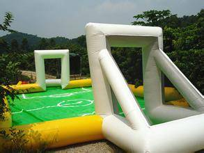 inflatable water soccer field