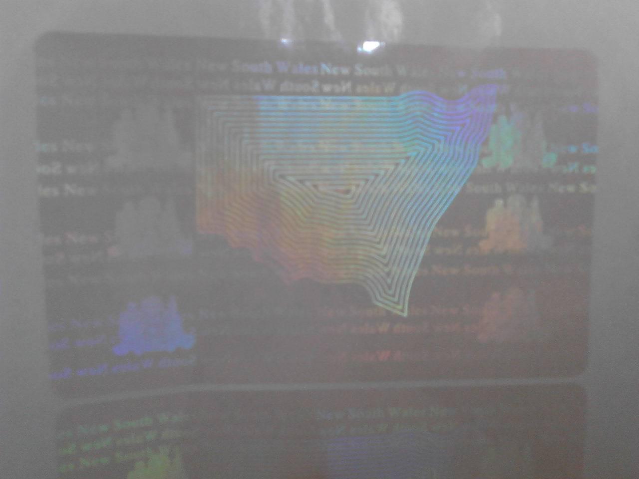 Kangaroo logo hlogram overlay film for cards