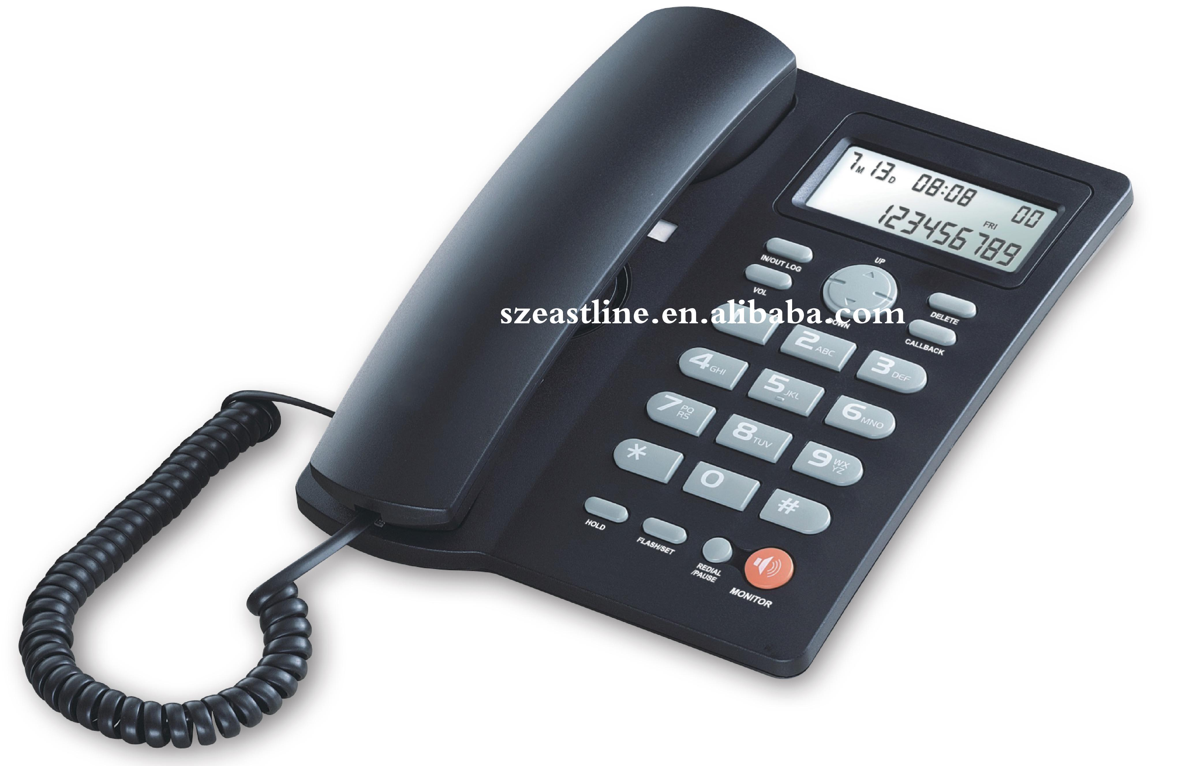 Two-way H.F. Speakerphone Caller ID Corded / Analog Telephone Set with Toggle Mute