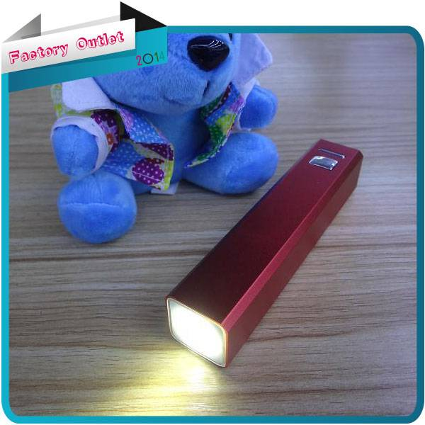 led light power bank mobile phone charger bateria 2600mah for mobile phone charger