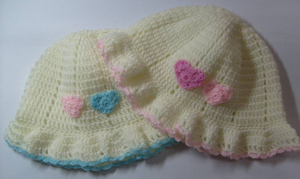 crochet infant beanie hat