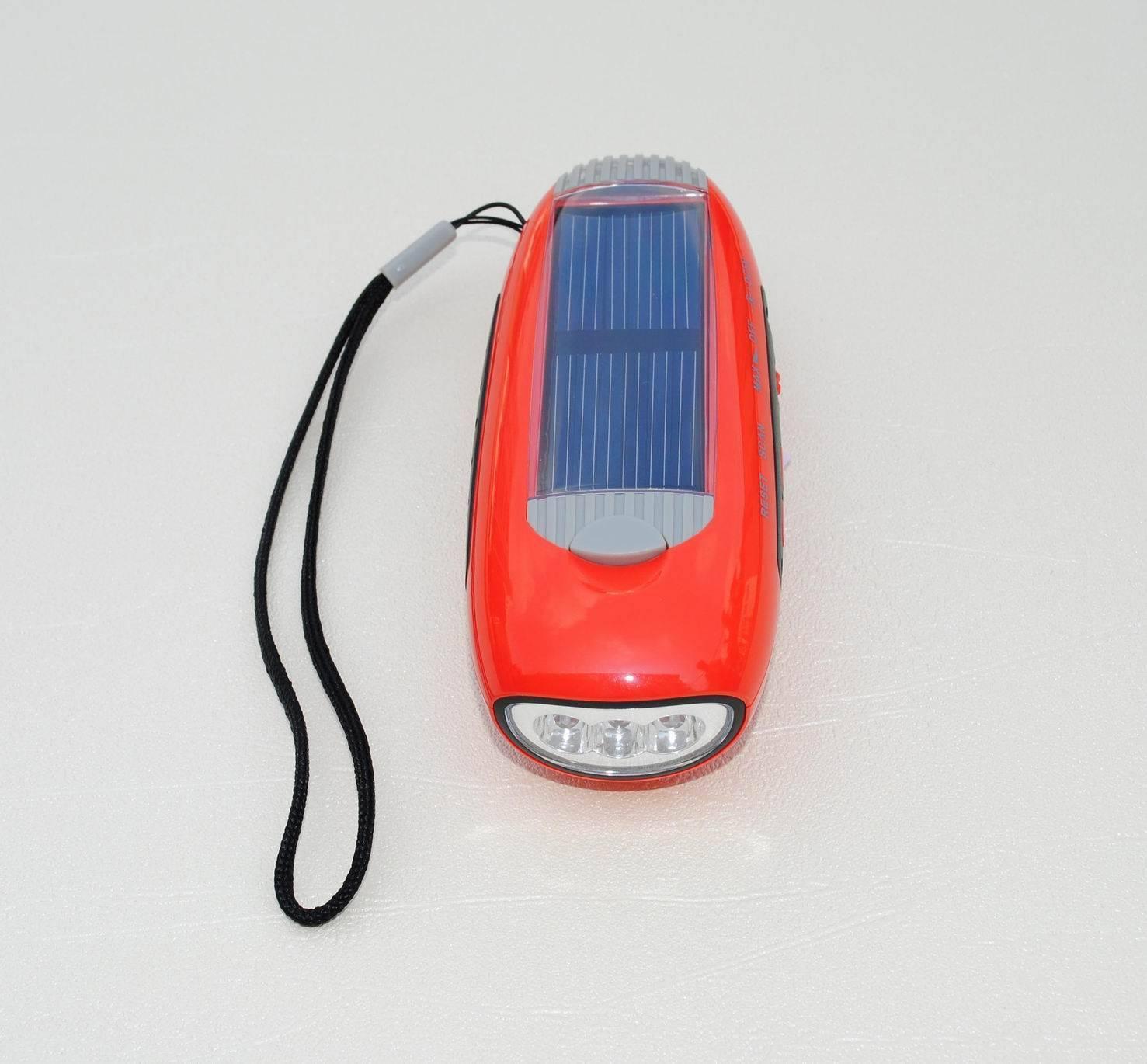 GR-280A Solar Flashlight with FM Radio