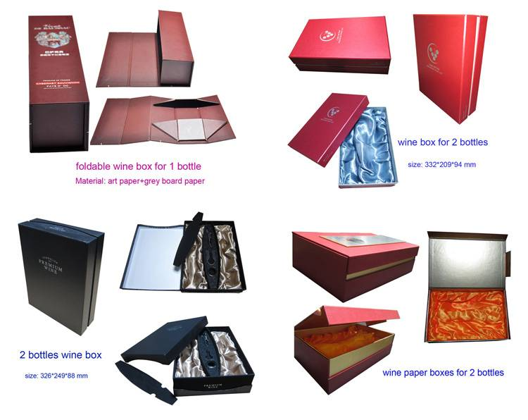 Wine Cardboard Paper Box, Paper Wine Packaging Boxes, Wooden Wine Box