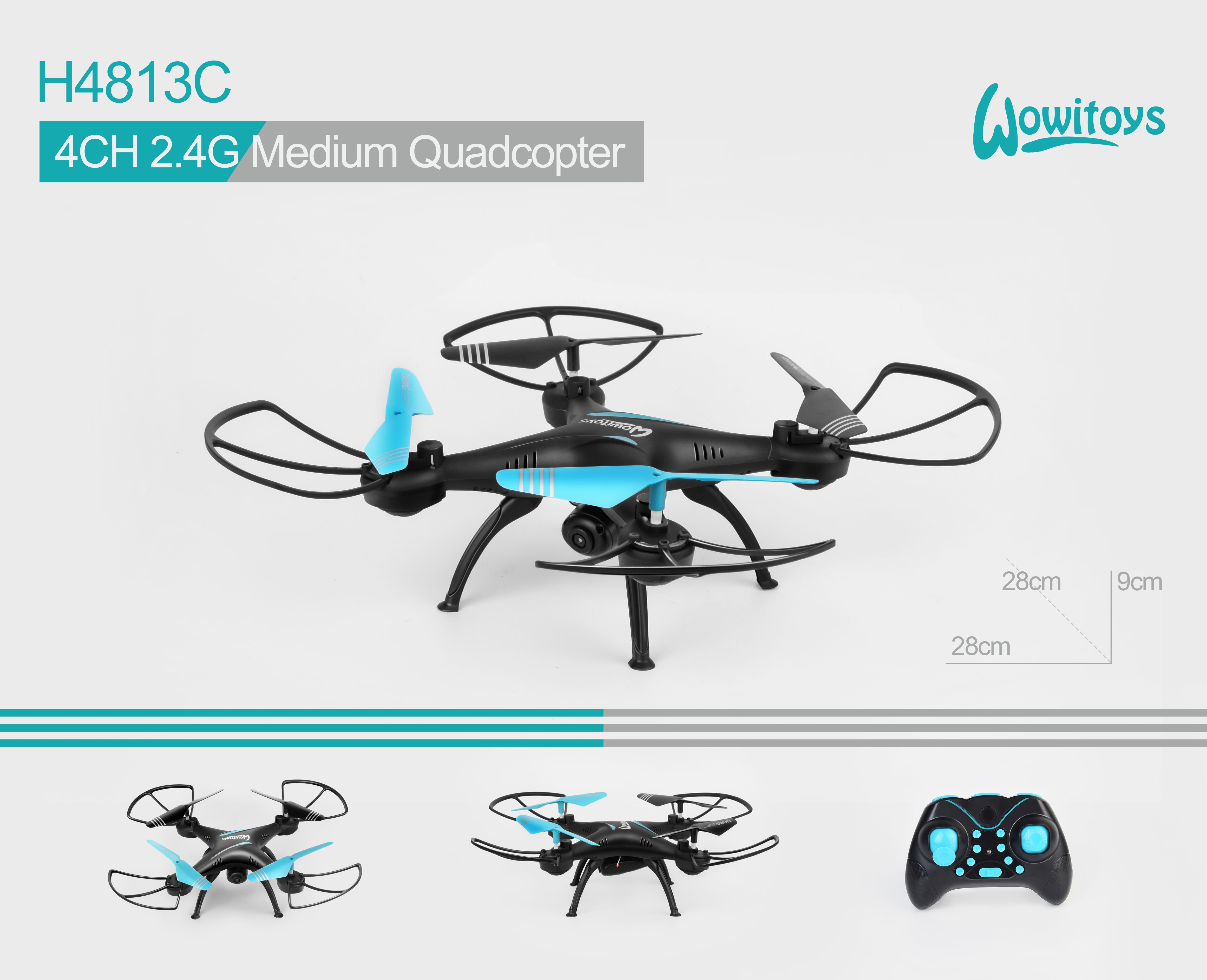 4CH 2.4G Middle Quadcopter with 1080P HD camera