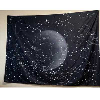 Enipate Psychedelic Constellation Galaxy Space Pattern Tapestry Wall Hanging Light-weight Polyester