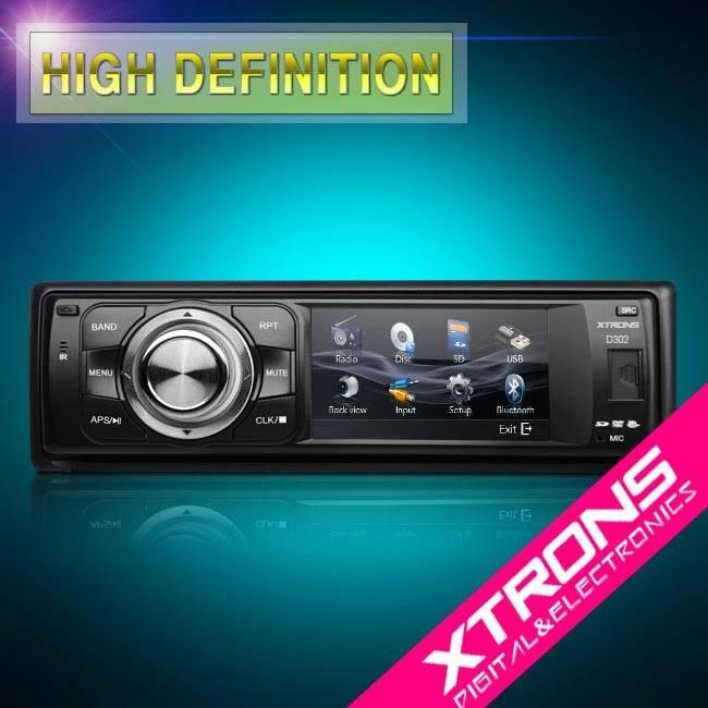 3 HD Digital Touch Screen Car Radio Stereo DVD CD Player USB Single 1 DIN