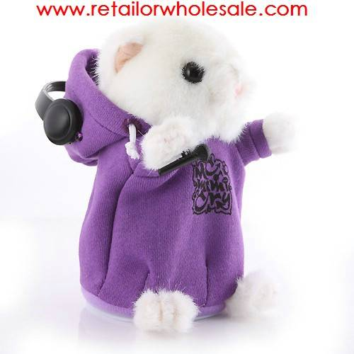 Wholesale Cute DJ Edition Plush Hamster Pet Toy