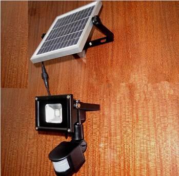 Pir sensor lamp Solar Light solar panel led PIR Infrared Motion Security Garden flood Wall Light out