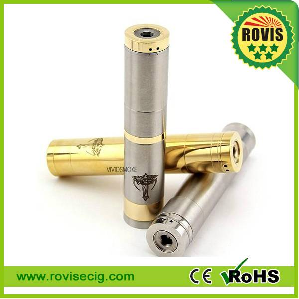 2014 Hot selling latest E-cigs full Stainless Steel and copper Mechanical mod Nemesis Mod