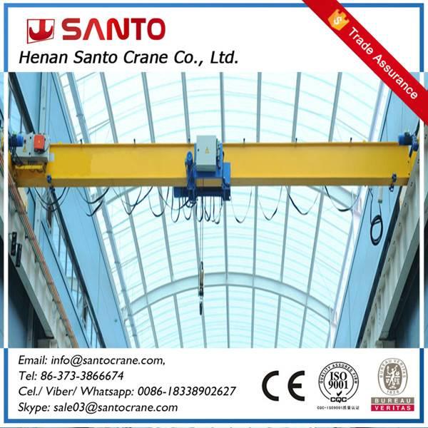 1 year warrenty for lda model light duty hoist travelling single beam girder bridge overhead crane a