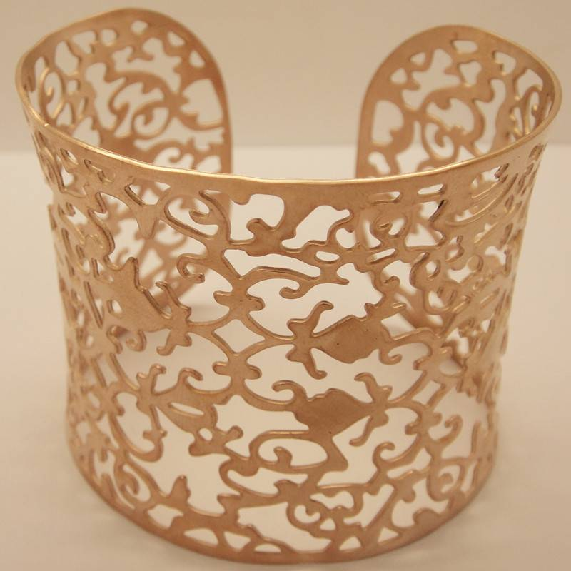 Fashion Jewelry Stainless Steel Bangle with Rose Golden Plating