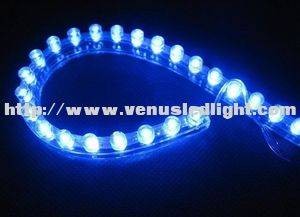 Blue 48cm 48LED PVC Flexible LED Strip Light Waterproof for Car Motorcycle NEW