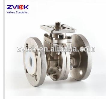 "CF8M material PFA lined ball valves DN50 2"""