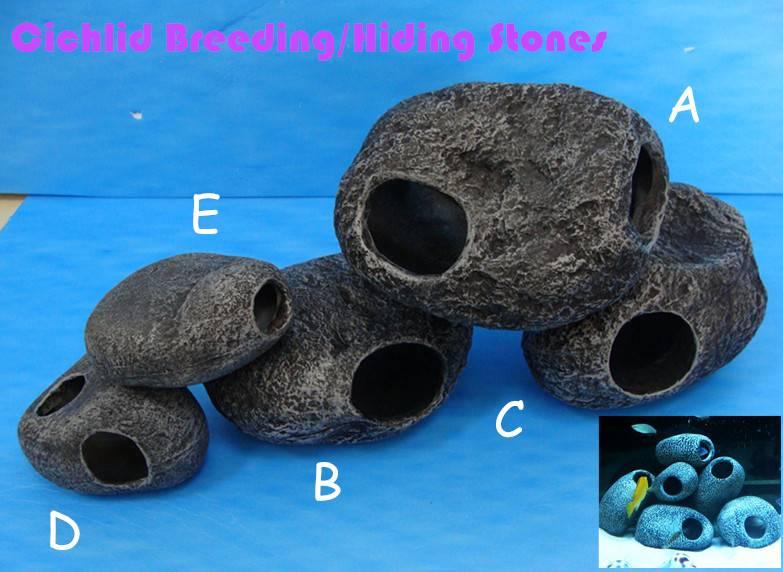 Cichlid breeding/ hiding rock, Cichlid spawning cave