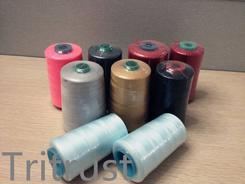 100% Polyester Spun Yarn threads for textiles China Factory