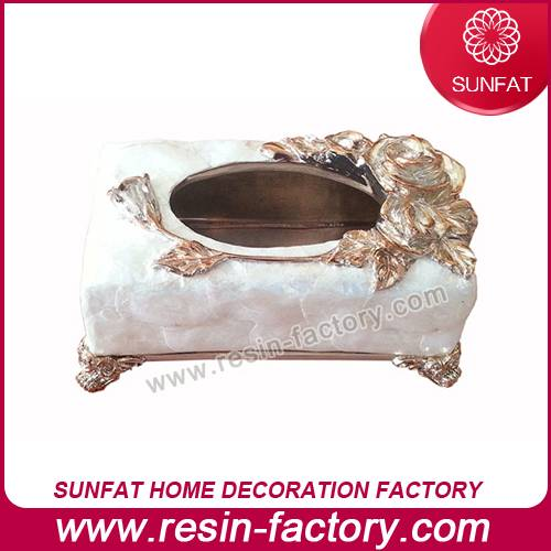 Polyresin Home Decoration Tissue Box
