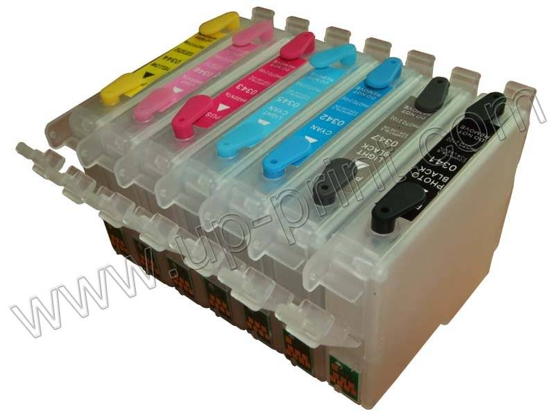 Refillable ink cartridge for Epson R2100 / R2200....