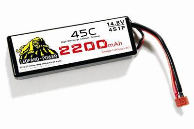 Leopard Power rc lipo battery for rc heli 2200mah-4S-45C
