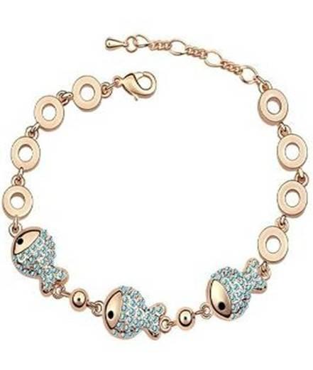 Sell Beautiful Crystal Gold Plated Bracelet,imitation jewelry