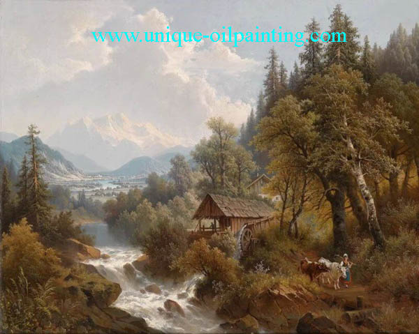 classical oil painting, landscape oil painting, museum quality oil painting