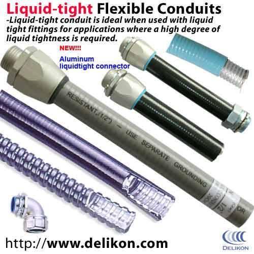 metallic Liquidtight conduit LIQUID TIGHT connector for industry wiring