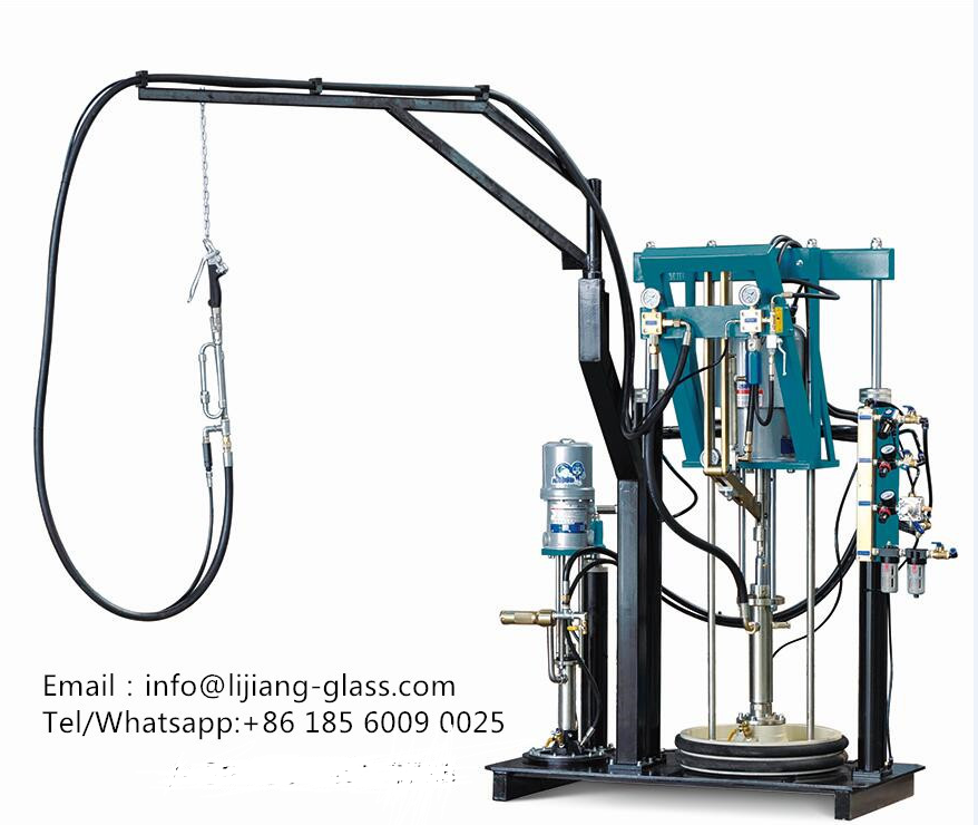 two components insulating glass silicon extruder machine