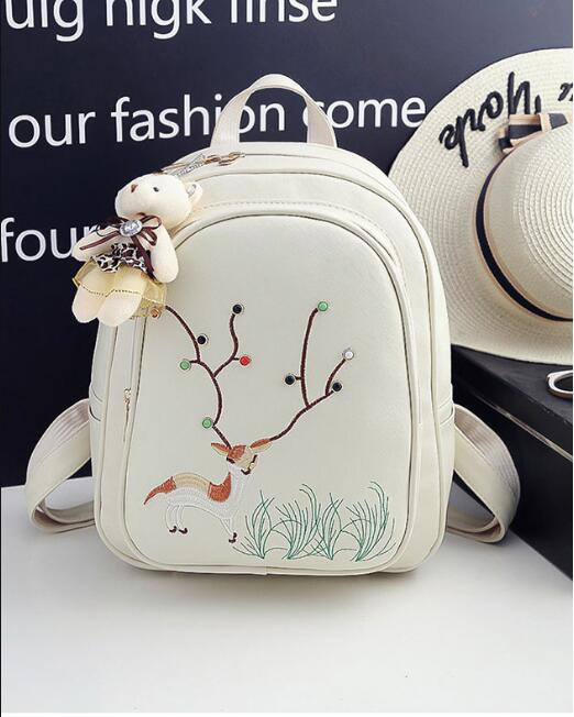 Mini For Young Women Pu Leather Fashion Backpack Bag