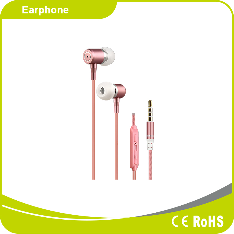 High End Metal Material Stereo MP3 Music Earbuds