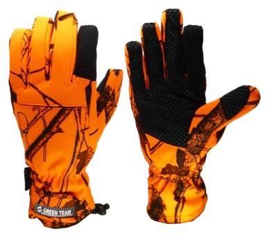 Hunting Camouflage Aquabloc Fabric Gloves